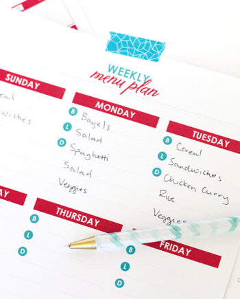 FREE Printable Menu Plans... perfect for busy families, we've included tips to get you started!