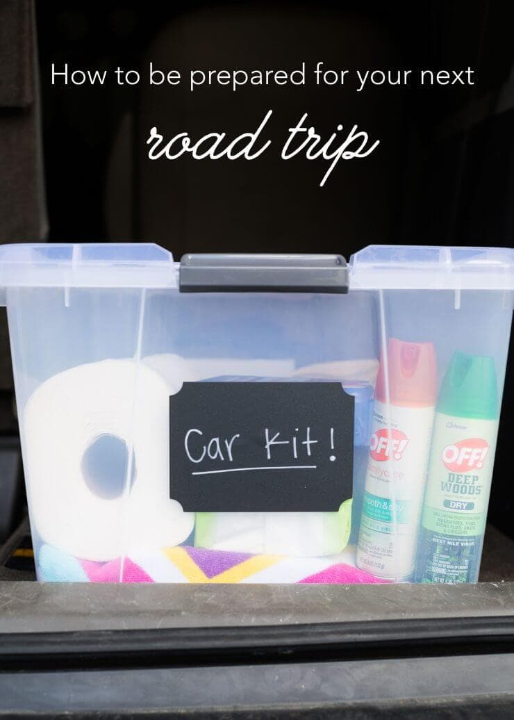 DIY car kit ...this list will definitely come in hand for our next road trip!