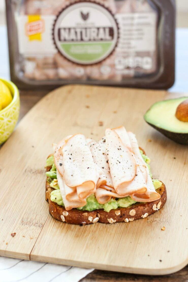 Top 50 Back to School Lunches and Snacks... Turkey and Avocado Toasts