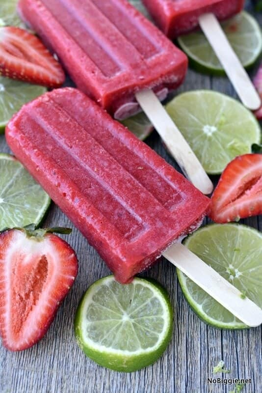 Fresh Strawberry Popsicles on the Top 50 Homemade Ice Cream and Popsicle Recipes