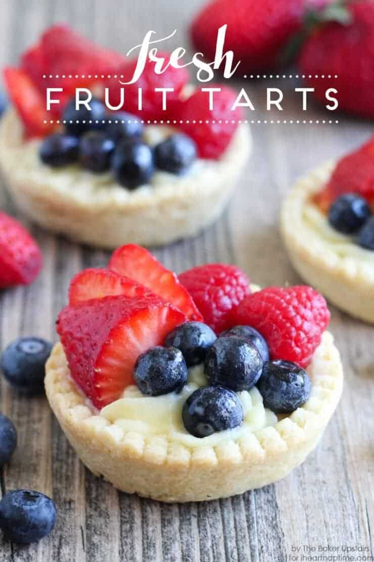 Top 50 Back to School Lunches and Snacks... Fresh Fruit Tarts