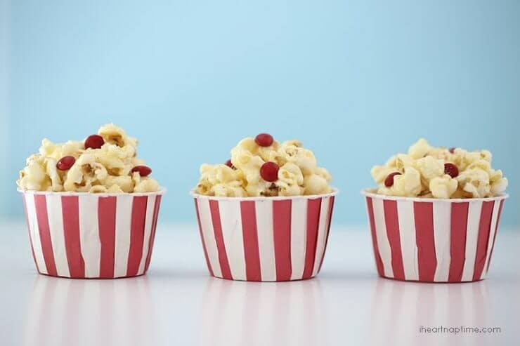 Top 50 Back to School Lunches and Snacks... Marshmallow Caramel Popcorn