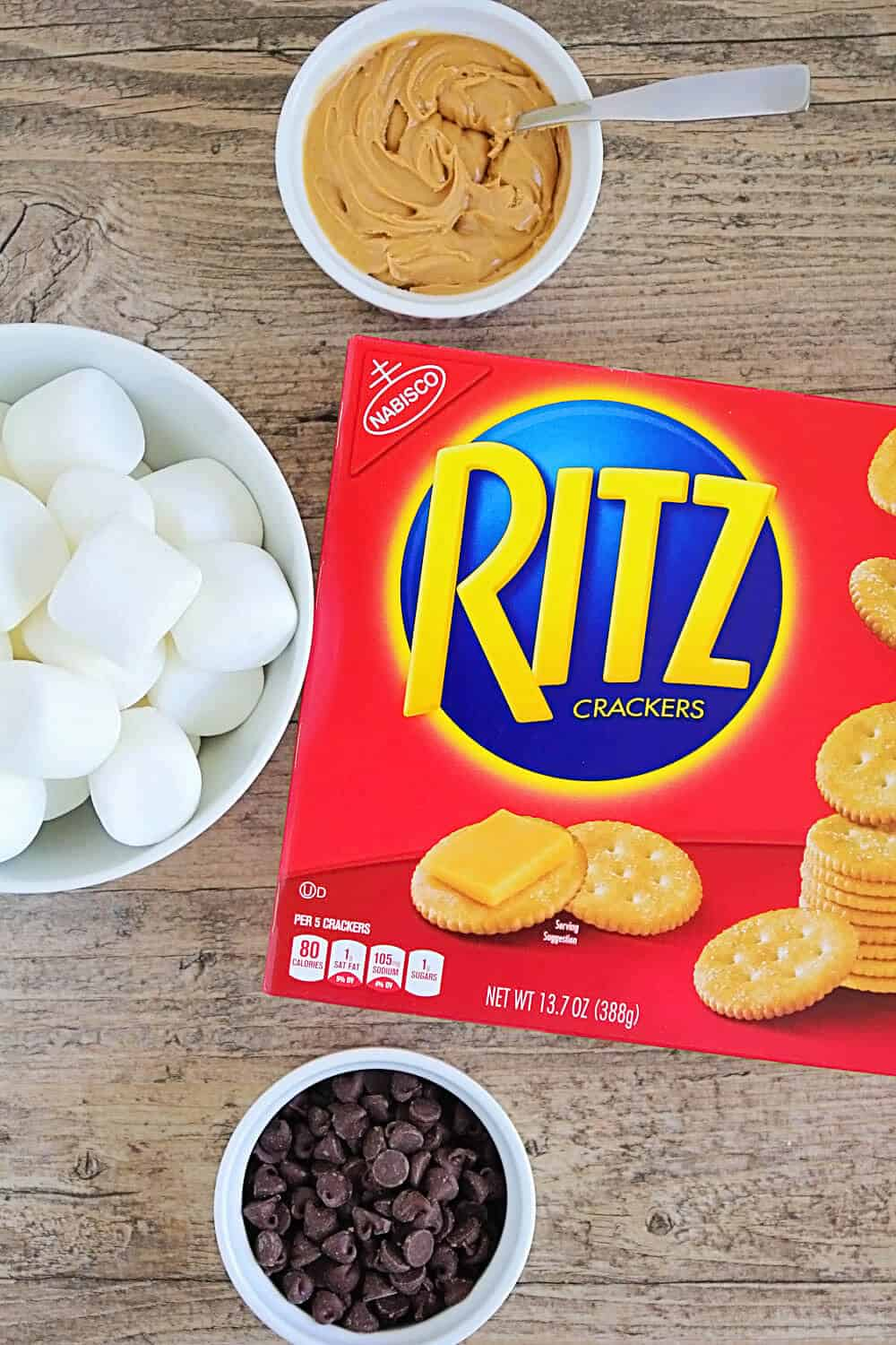 RITZ Peanut Butter S'mores... gathering the ingredients
