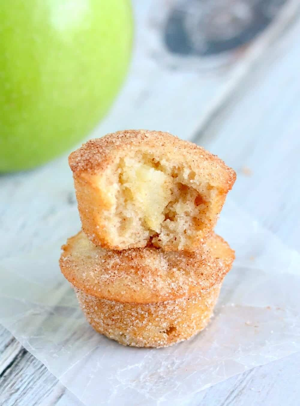 Easy and delicious, these Apple Snickerdoodle Mini Muffins are sure to become a favorite!