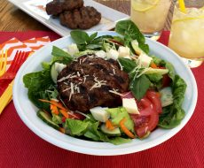 Italian Bunless Burgers... delicious BBQ twist perfect for the end-of-summer days!