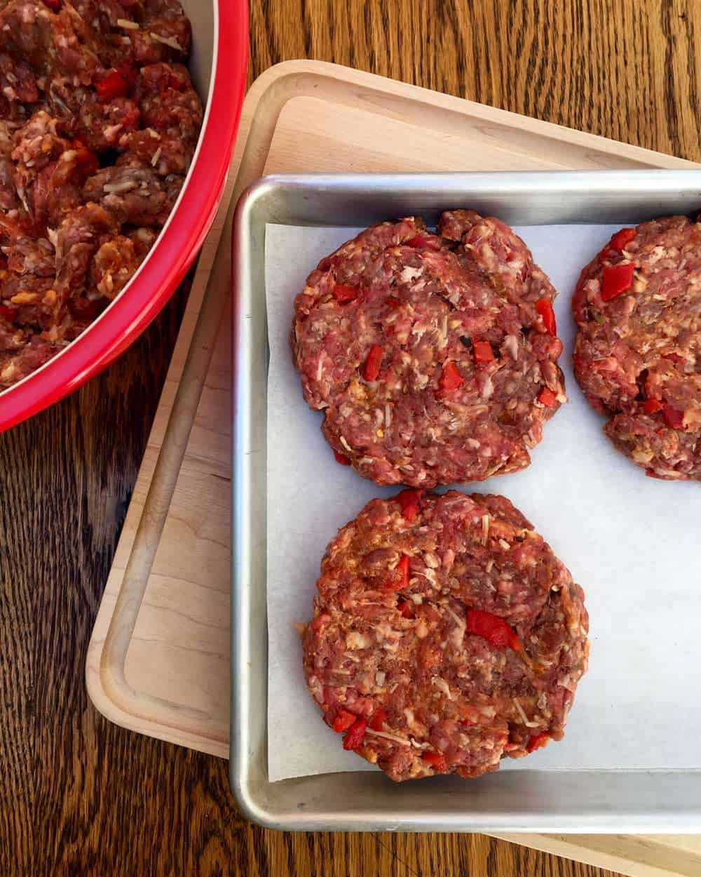 Italian Bunless Burgers... ready for the grill