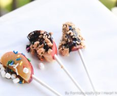 Candy Apple Pops! A fun and creative idea for any Fall party!