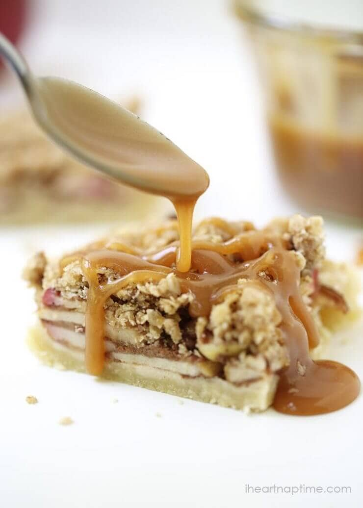 Caramel Apple Pie Bars featured on the Top 50 Apple Recipes