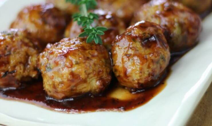 Chicken Apple Meatballs featured on the Top 50 Apple Recipes