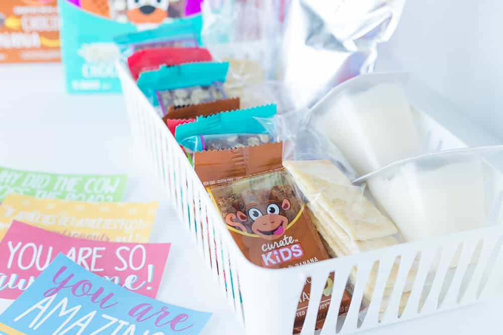 5 Lunch box packing tips... make a grab'n'go station to make packing lunches easier
