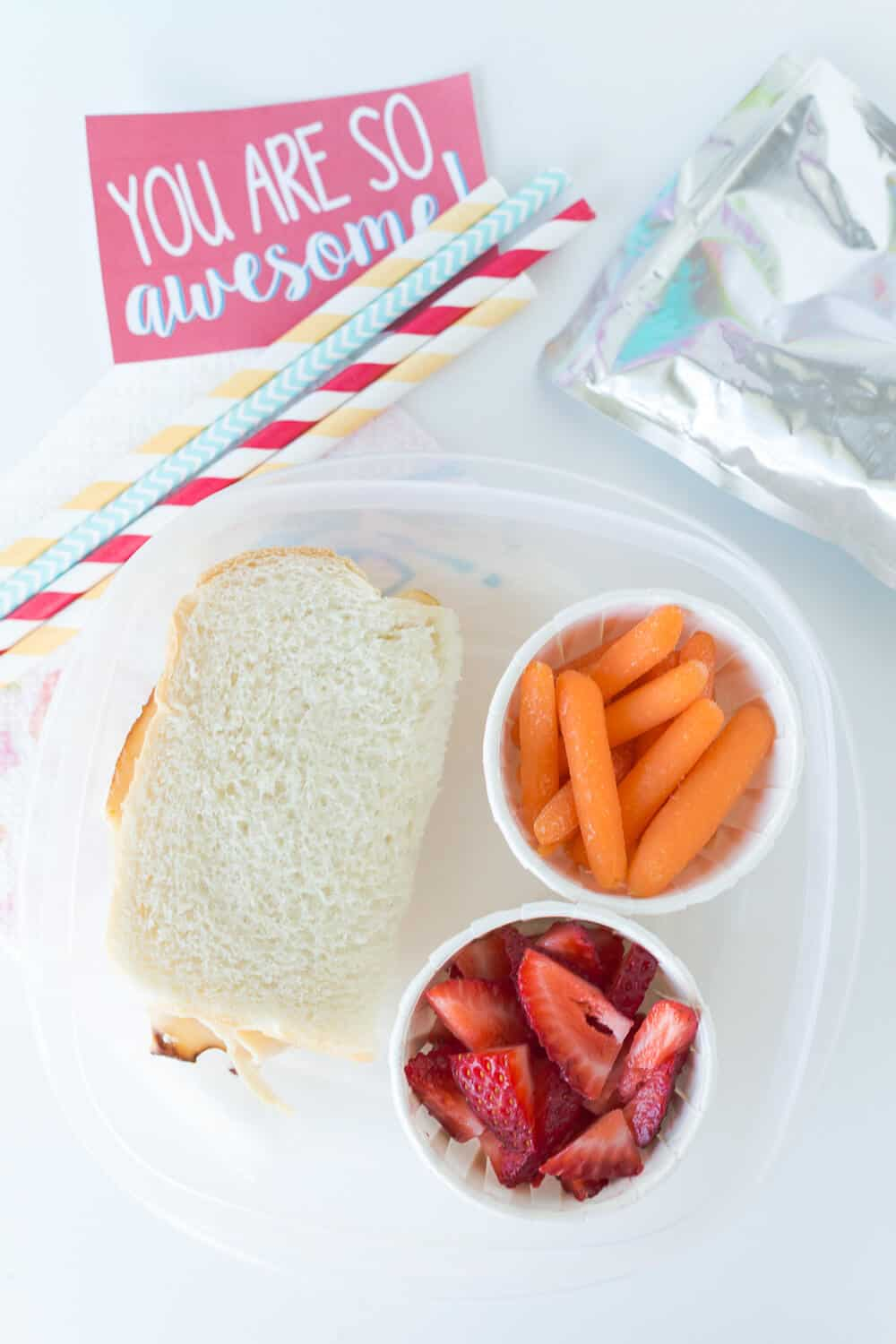 Five Lunchbox Packing Tips... packing sides in cupcake lines