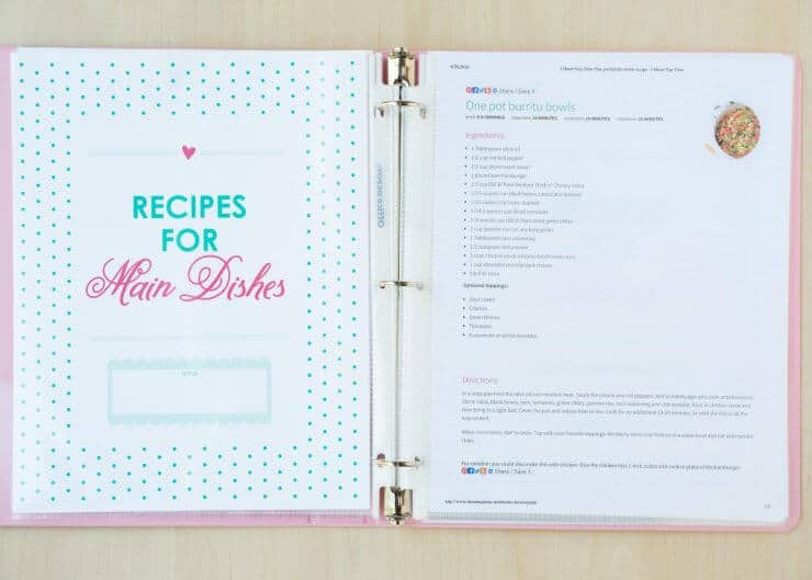 DIY Recipe Binder - FREE with The I Heart Naptime Cookbook... enjoy this helpful printable when you preorder the I Heart Naptime Cookbook!