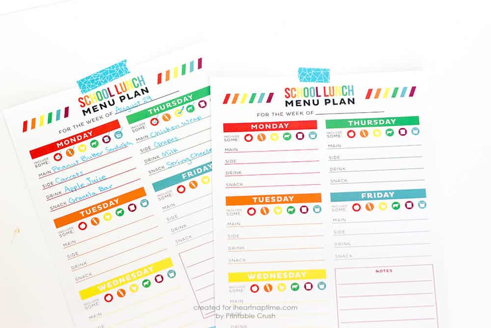 FREE School Organization Printables I Heart Nap Time - Organization printables