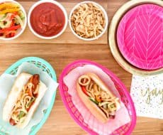 Colorful End of Summer BBQ with an easy, delicious menu!