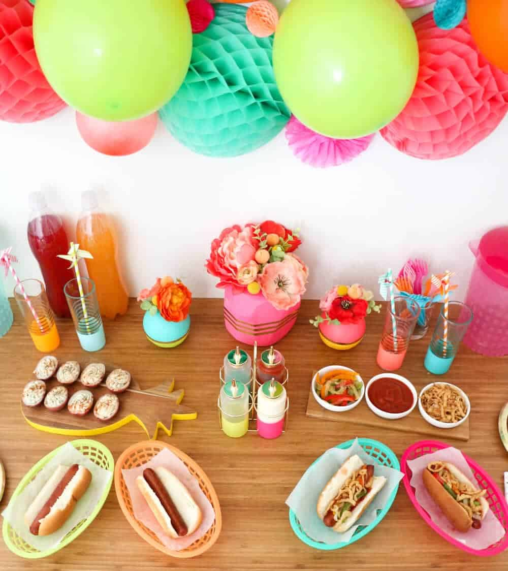 Colorful End of Summer BBQ... so fun and easy!