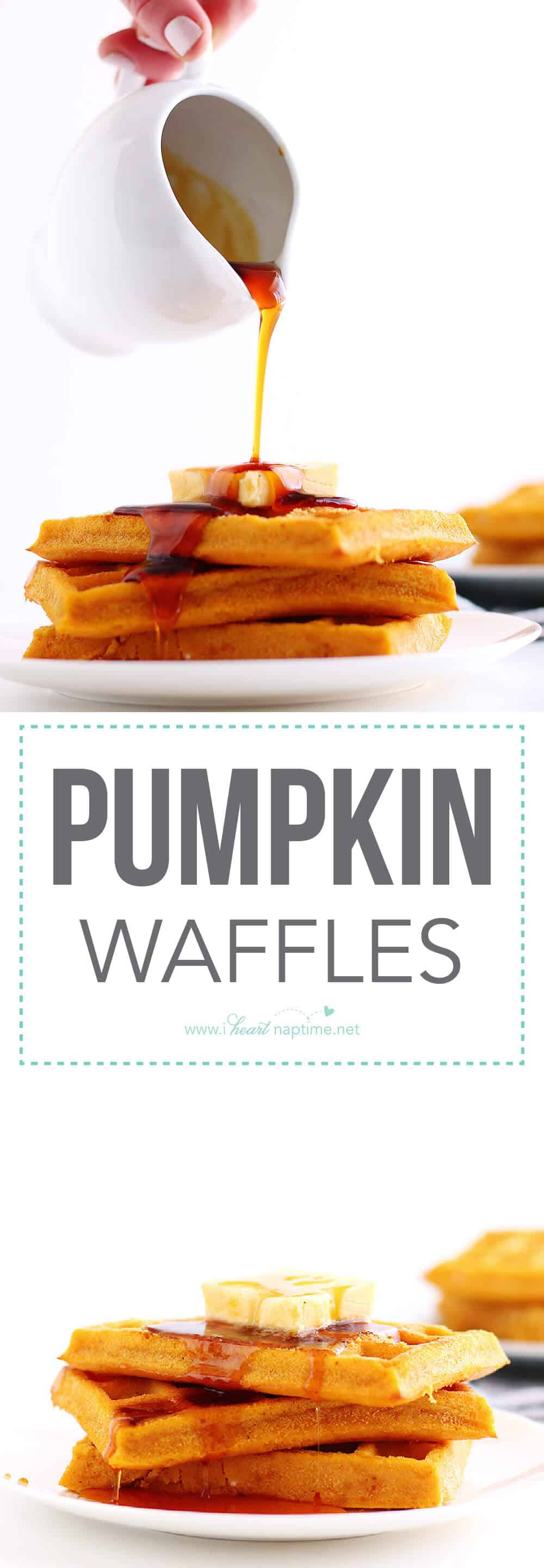 These Pumpkin Waffles are a delicious fall breakfast and are so quick and easy to make. No waffle iron needed. Plus, it is the perfect way to fill up on veggies.