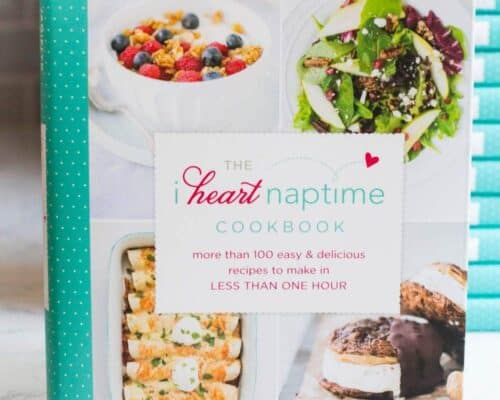 close up of The I Heart Naptime Cookbook