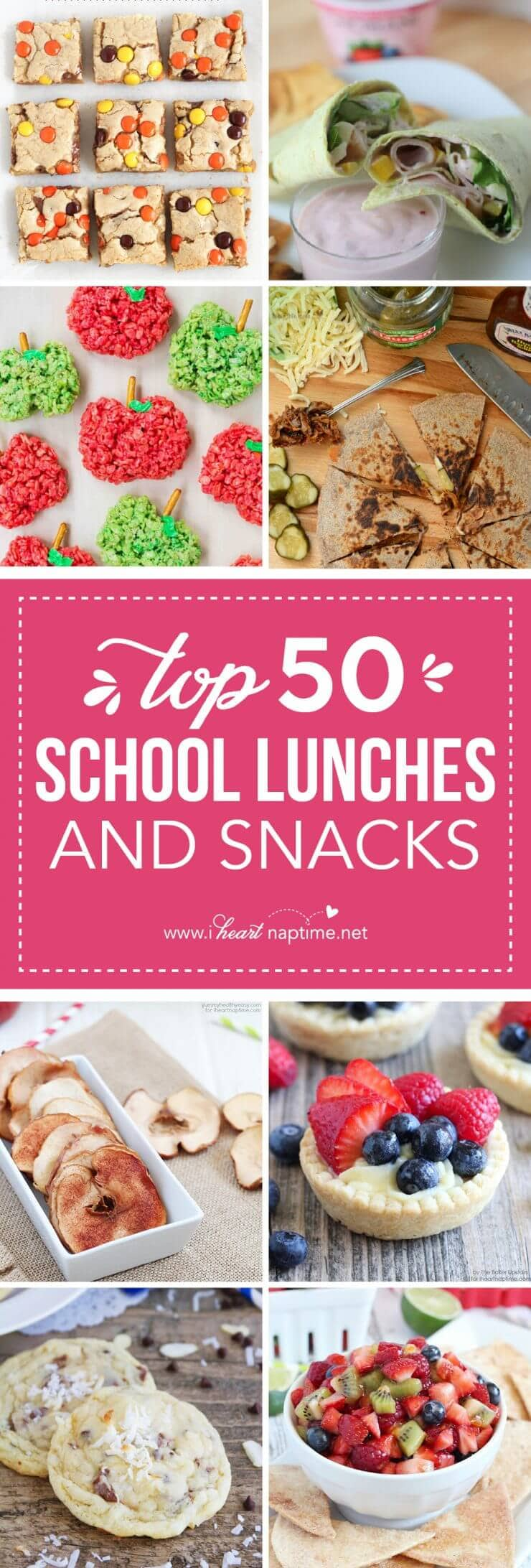 Top 50 Back to School Lunches.. a round-up of all our favorites to kick the school year off right!