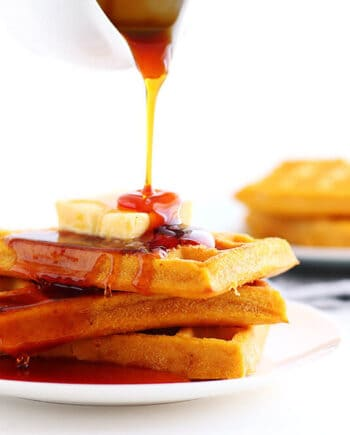 These Pumpkin Waffles are delicious and easy to make!