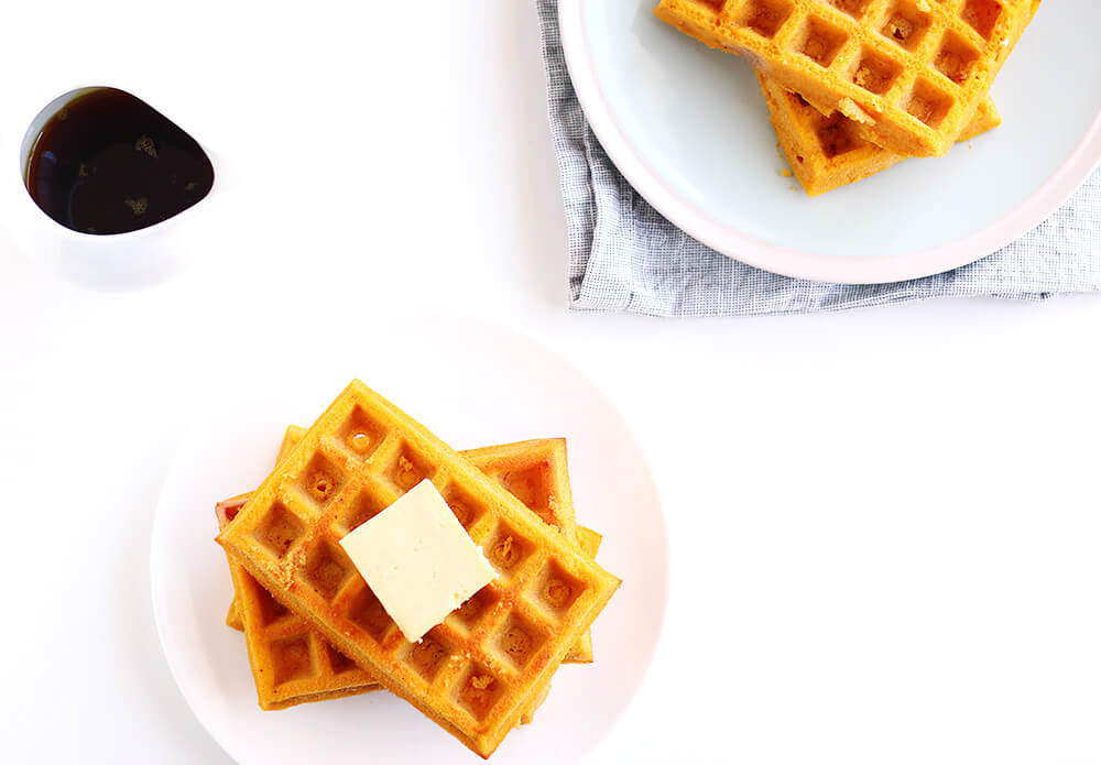Delicious and easy Pumpkin Waffles