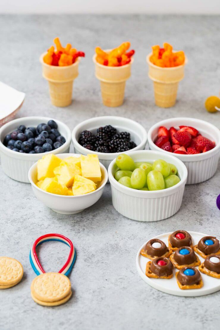 Olympic Snack Ideas... perfect snacks for watching the Olympics with your family!