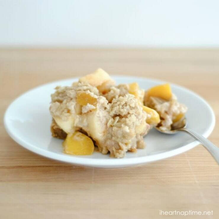 Snickerdoodle Apple Peach Crisp featured on the Top 50 Apple Recipes