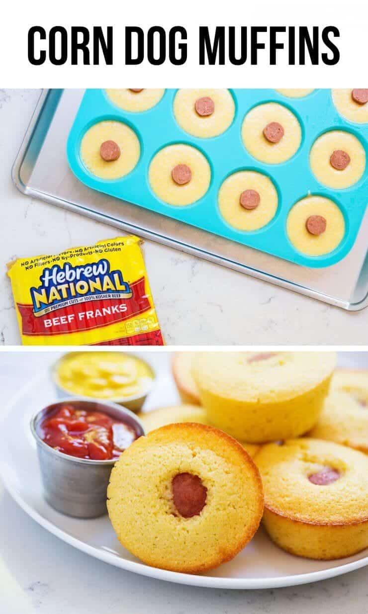Easy and delicious corn dog muffins recipe...the perfect appetizer for game day and something the whole family will love!