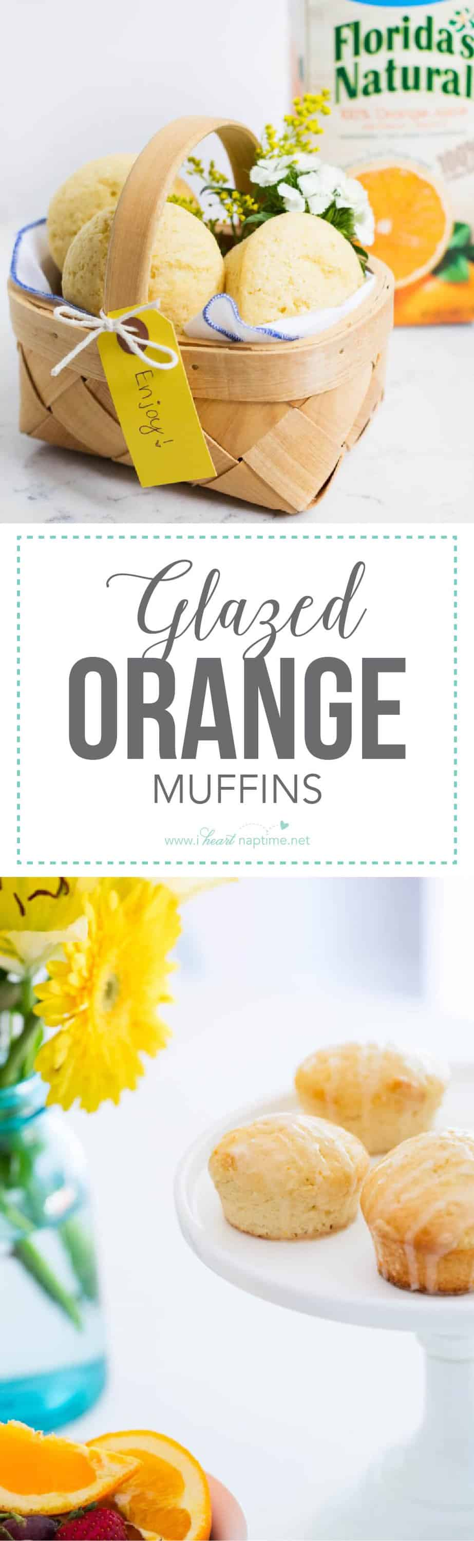 These glazed orange muffins would make the perfect start to any day! They make a great breakfast for busy morning or a quick afternoon snack. These muffins are super light, soft and bursting with orange flavor! The orange glaze adds just the right amount of sweetness.