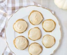 Caramel Frosted Pumpkin Cookies... Melt in your mouth pumpkin cookies with caramel frosting; simply the best pumpkin cookies out there and a must make this fall!