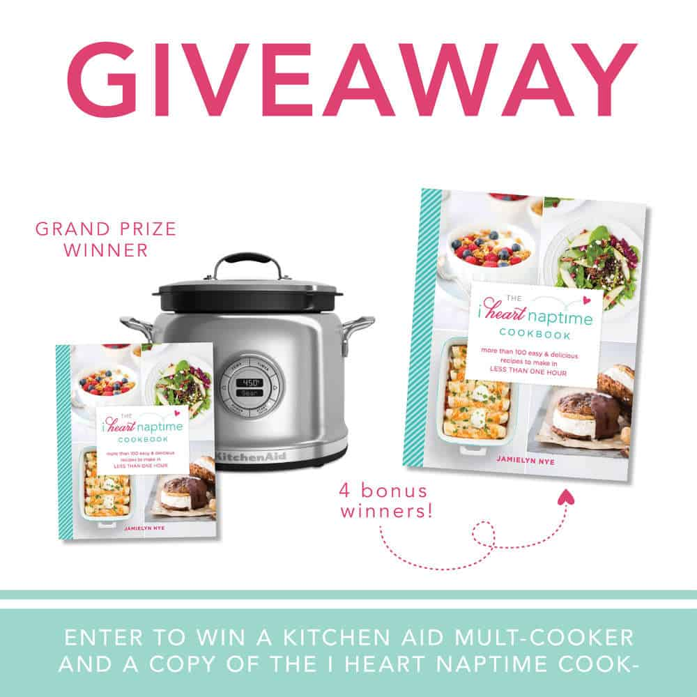 Kitchen Sweepstakes: Kitchen Aid Giveaway + The I Heart Naptime Cookbook Is Now
