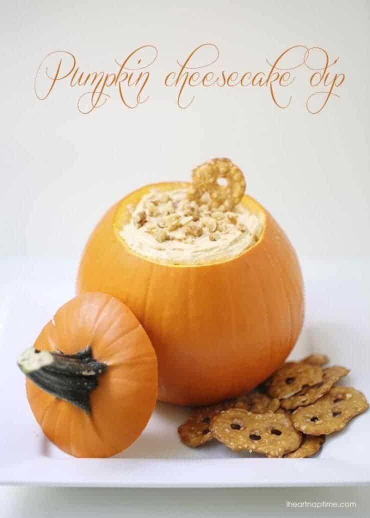 Top 50 Halloween Recipes... Pumpkin cheesecake dip