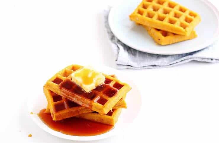 Top 50 Halloween Recipes... Pumpkin waffles