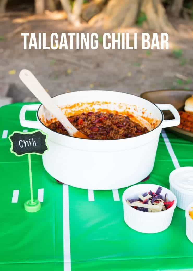 Tailgating Chili Bar