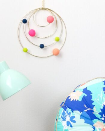 DIY Colorful Abstract Solar System Mobile