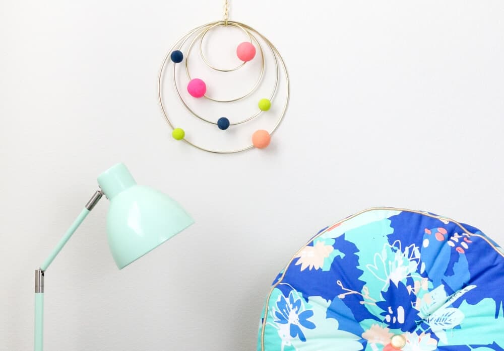 DIY Colorful Abstract Solar System Mobile.. a fun addition for any room