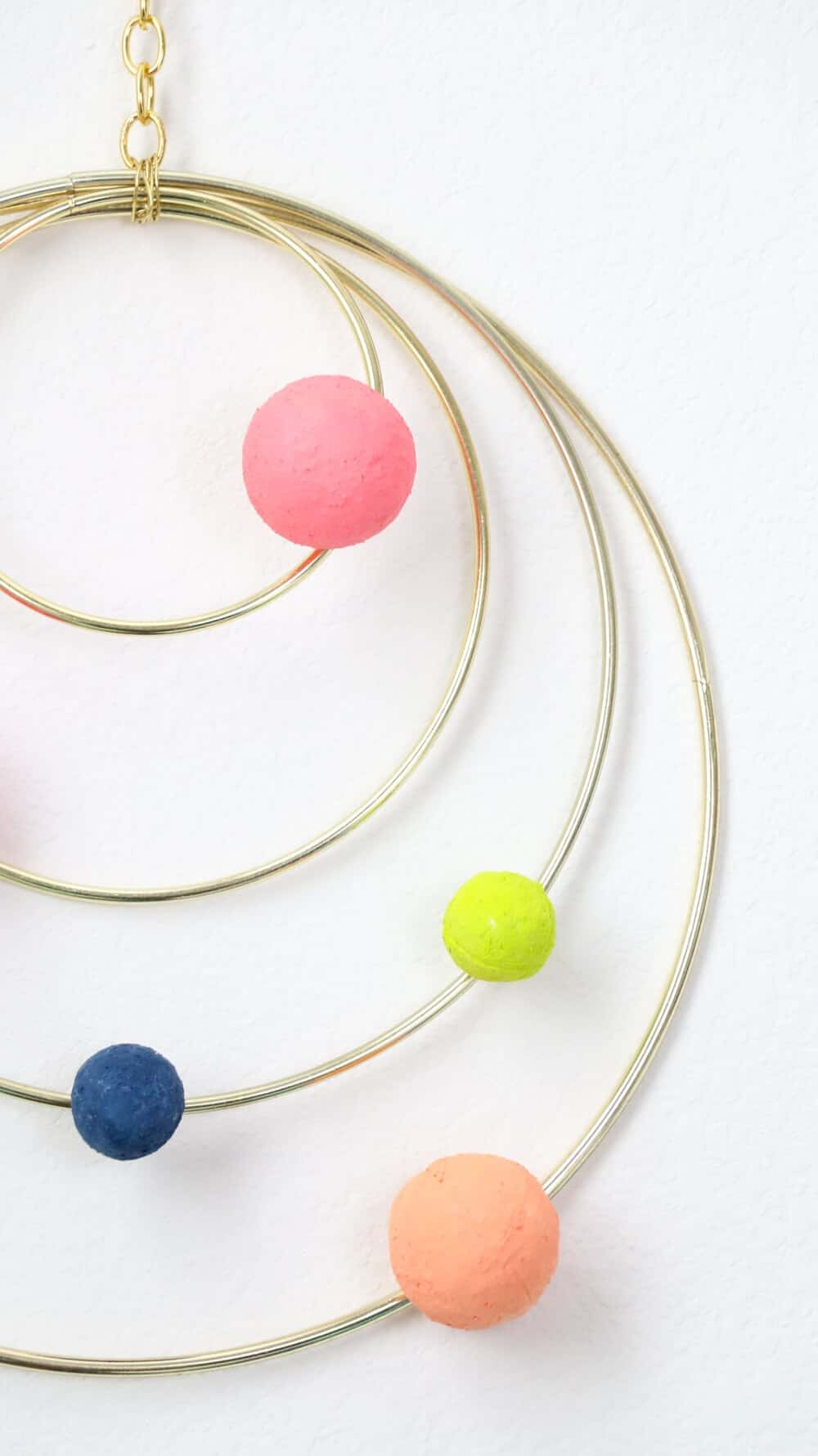 DIY Colorful Abstract Solar System Mobile... so fun! An easy DIY perfect for any room