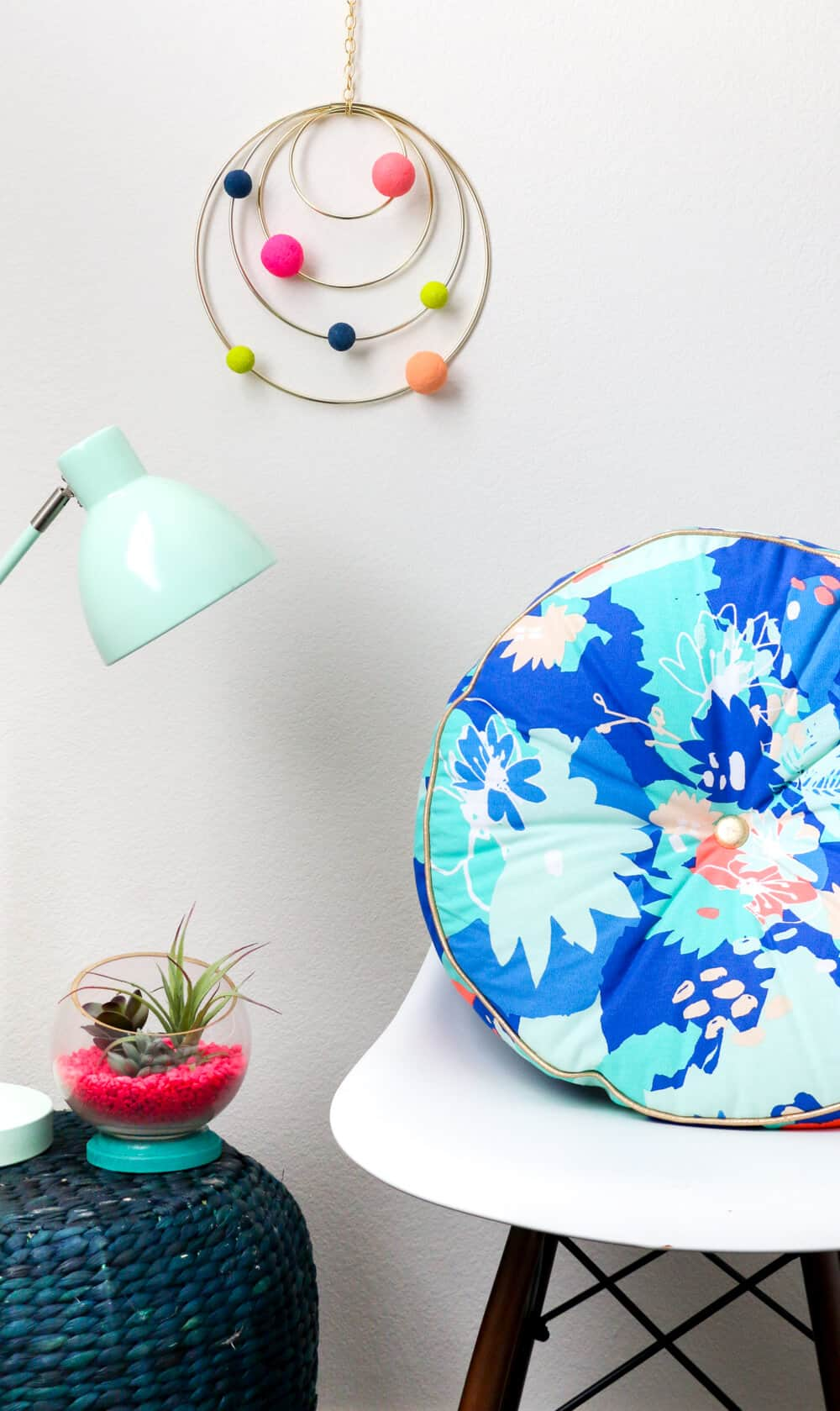 DIY Colorful Abstract Solar System Mobile... a colorful addition to any room!