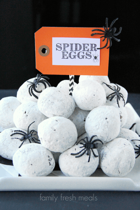 Top 50 Halloween Recipes... Spider Eggs