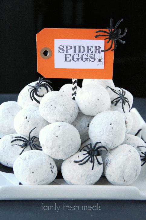 Top 50 Halloween Recipes... Spider Eggs