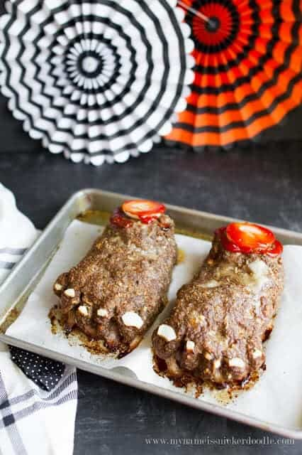 Top 50 Halloween Recipes... Halloween feet loaf