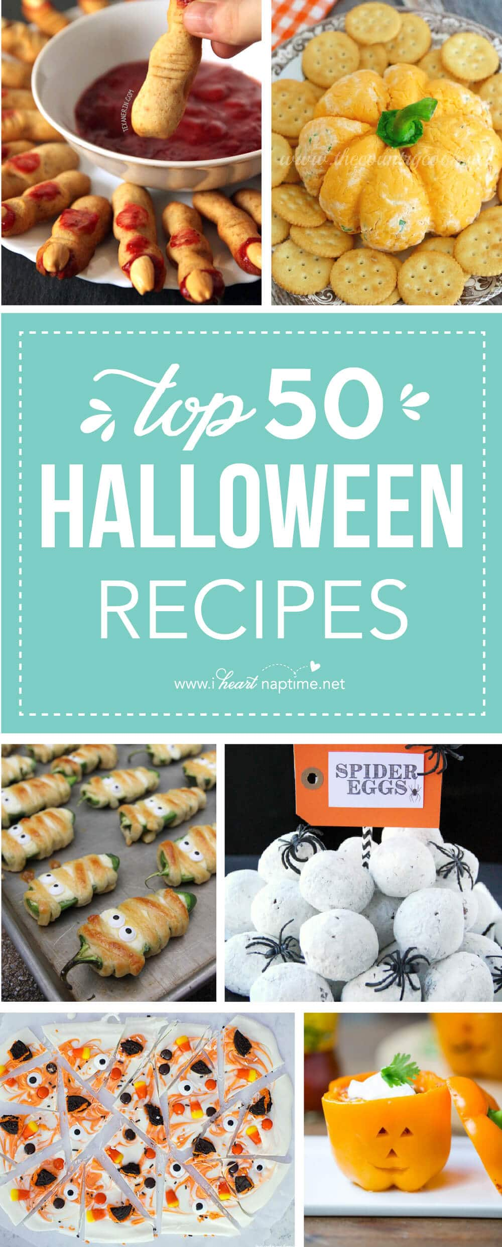 Top 50 Halloween Recipes ...I've rounded up some absolute fantastic Halloween dips, side dishes and entree's that are sure to WOW at your next Halloween Party!