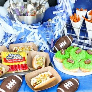 Football Tailgating Party ...Cheer on your favorite football team with friends, food, and this recipe for a BBQ hot dog.