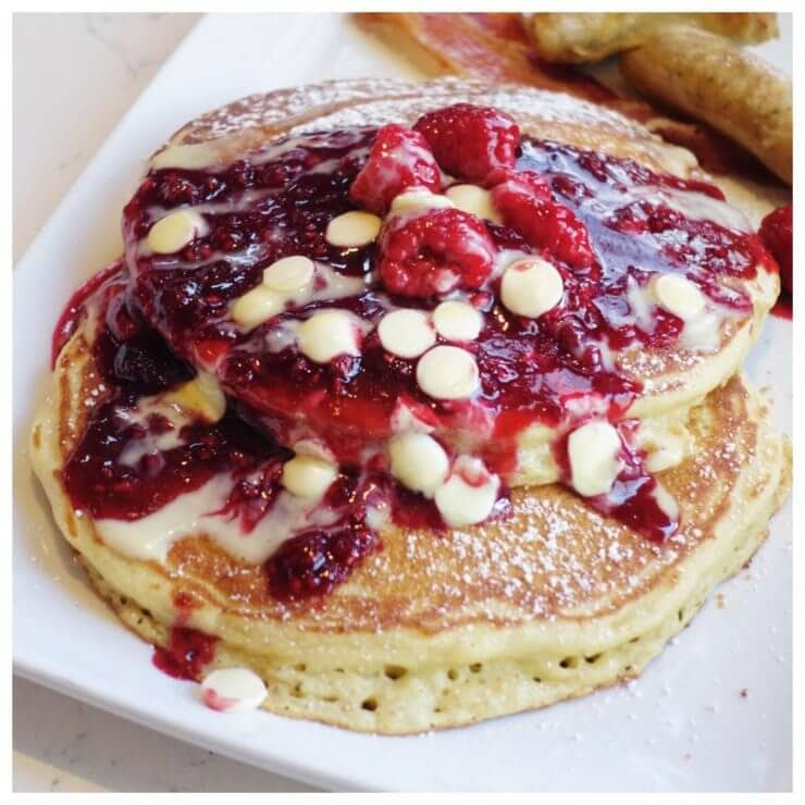 Berries and cream pancakes from Trattoria al Forno -AMAZING!