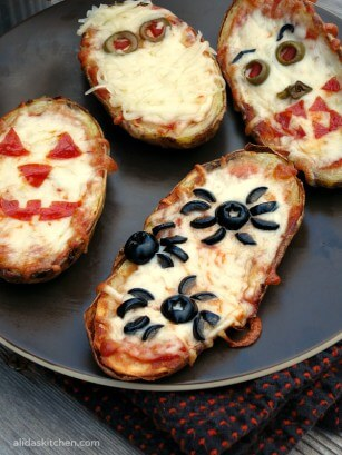 Top 50 Halloween Recipes... Baked potato skins