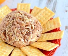 Simple and delicious Cranberry Orange Cheese Ball