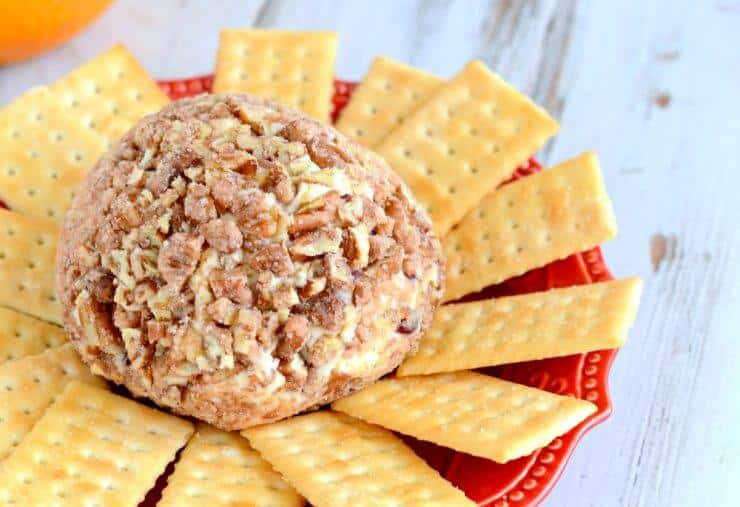 Simple and delicious Cranberry Orange Cheeseball