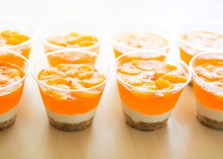 No-bake mandarin orange pretzel parfait cups dessert recipe