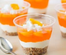 No-Bake Mandarin Orange Pretzel Parfait