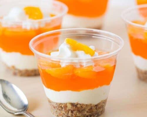 No-Bake Mandarin Orange Pretzel Parfait