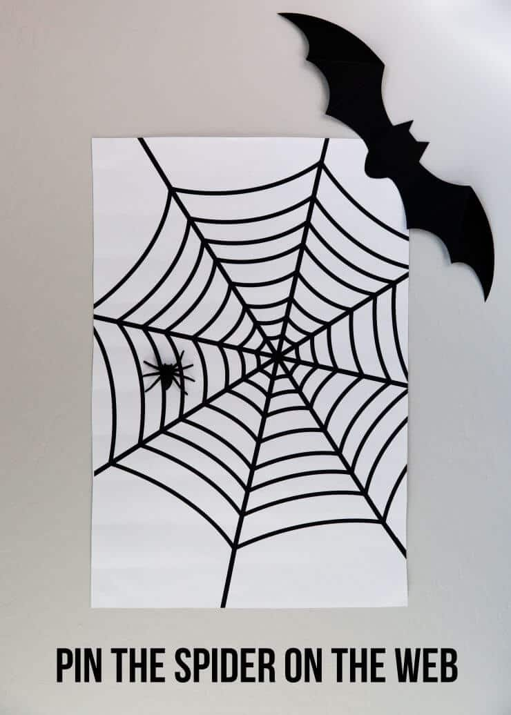 5 EASY Kids Halloween Games... Pin the Spider on the Web